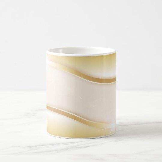 Efecto de lujo del oro taza de café