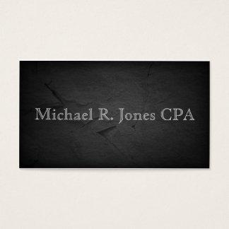 Efecto de piedra gris oscuro unisex tarjeta de negocios