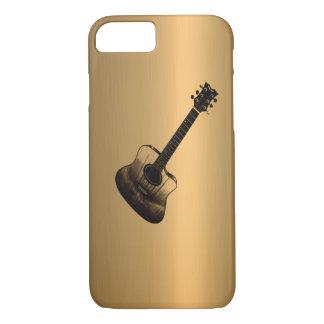 Efecto del cobre del bronce de la guitarra del funda iPhone 7