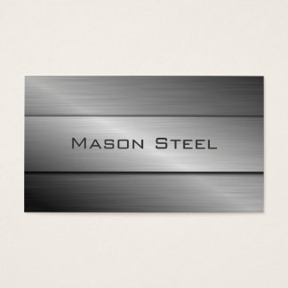 Efecto fresco del acero inoxidable, tarjeta de