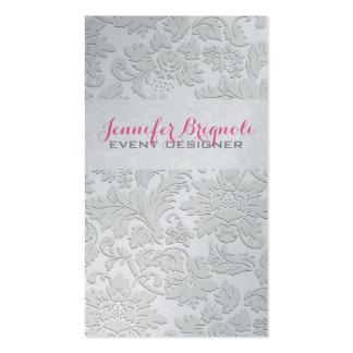 Efecto grabado en relieve damascos florales tarjetas de visita