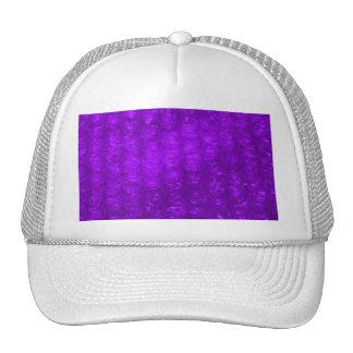 Efecto púrpura del plástico de burbujas gorras