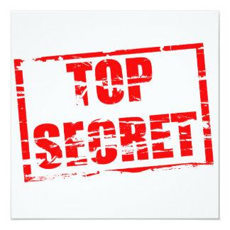 Efecto secretísimo del sello de goma comunicado personal