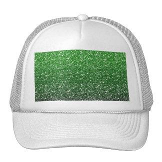 Efecto verde del brillo de Ombre Gorros Bordados
