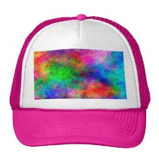 efectos coloridos hermosos del paño del arte gorra