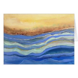 Efectos de escritorio abstractos de la playa, tarjeta de felicitación