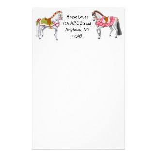 Efectos de escritorio adaptables de los caballos papelería personalizada