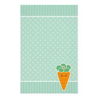 Efectos de escritorio crujientes de la zanahoria papeleria personalizada