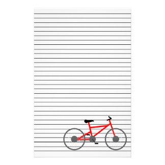 Efectos de escritorio de la bicicleta papelería