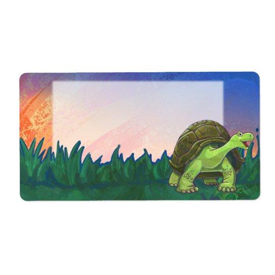 Efectos de escritorio de la tortuga etiqueta de envío