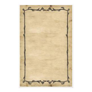 Efectos de escritorio de la vid del pergamino papeleria de diseño