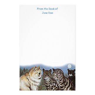 Efectos de escritorio de los gatos del claro de papeleria de diseño