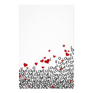Efectos de escritorio del amor del el día de San Papelería