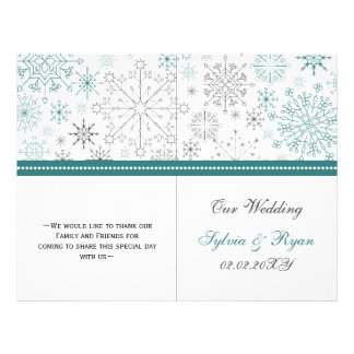 Efectos de escritorio del boda del invierno de los folleto 21,6 x 28 cm