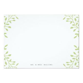 Efectos de escritorio del boda del jardín secreto invitación 12,7 x 17,8 cm