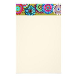 Efectos de escritorio del flower power papelería