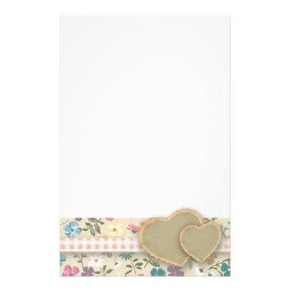 Efectos de escritorio florales del papel de carta