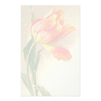 Efectos de escritorio florales del vintage papelería