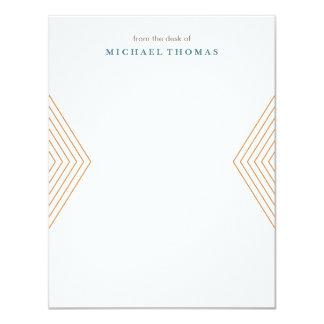 Efectos de escritorio minimalistas de Chevron - Invitación 10,8 X 13,9 Cm