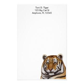 Efectos de escritorio orgullosos del tigre de papelería