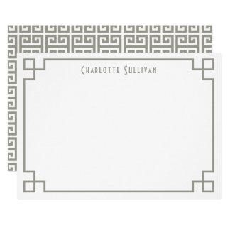 Efectos de escritorio personalizados frontera invitación 12,7 x 17,8 cm