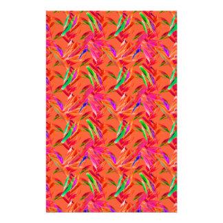 Efectos de escritorio rosados anaranjados  papeleria de diseño