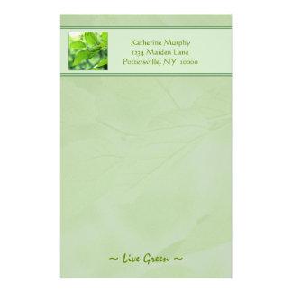 """Efectos de escritorio """"verdes"""" vivos papelería"""