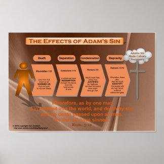 Efectos del pecado (carta de la sala de clase) póster