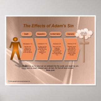 Efectos del pecado de Adán Póster