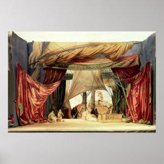 Efectúe el modelo para la ópera 'Tristan e Isolde Póster