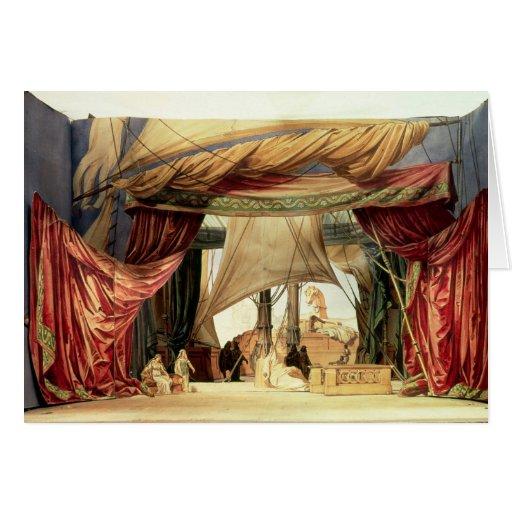 Efectúe el modelo para la ópera 'Tristan e Isolde Tarjeta
