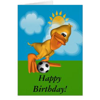 Eggbert la tarjeta del feliz cumpleaños del pato