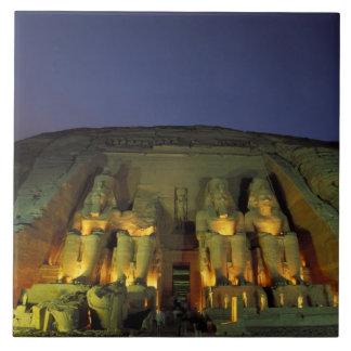 Egipto, Abu Simbel, figuras colosales de Ramesses Azulejo Cuadrado Grande
