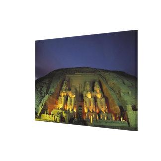 Egipto, Abu Simbel, figuras colosales de Ramesses Impresión En Lienzo Estirada