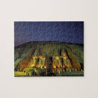 Egipto, Abu Simbel, figuras colosales de Ramesses Puzzle Con Fotos