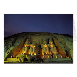Egipto, Abu Simbel, figuras colosales de Ramesses Tarjeta De Felicitación