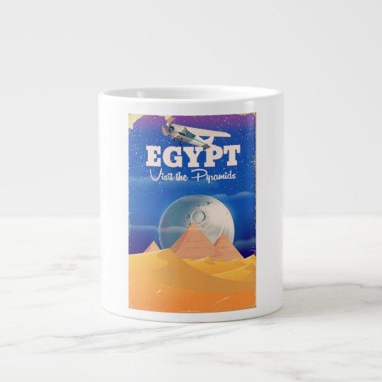 Egipto - visite el poster del viaje del vintage de taza de café gigante