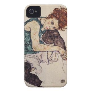 Egon Schiele asentó la caja del iPhone de la mujer iPhone 4 Funda