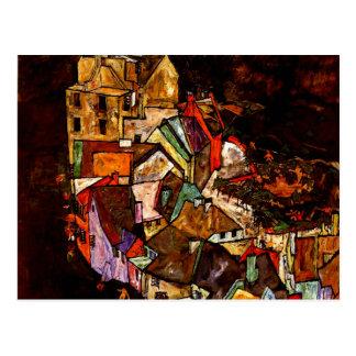 Egon Schiele - borde de la ciudad Postal