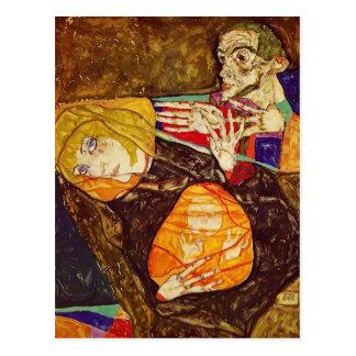 Egon Schiele- la familia santa Postal