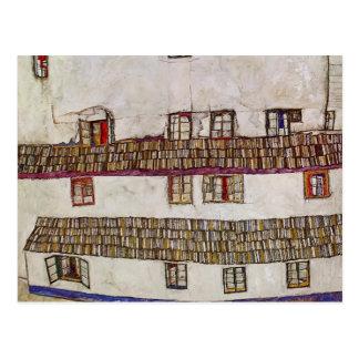 Egon Schiele- Windows (fachada de una casa) Postal