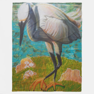 Egret listo para pegar la manta