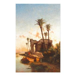Egypcian Landscape - Carlos de Haes - 1883 Papeleria Personalizada