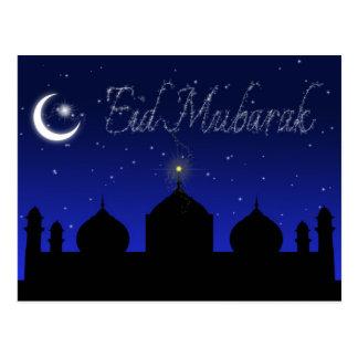 Eid Mubarak - postal islámica del saludo