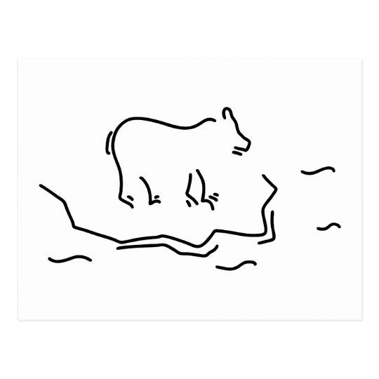 eisbaer eisscholle antartkis polarbaer postal