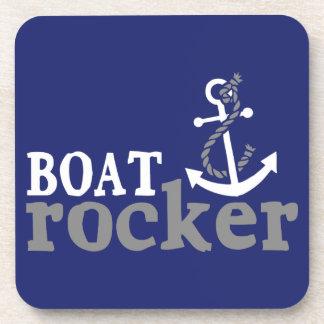 Eje de balancín náutico del barco del humor posavasos de bebida