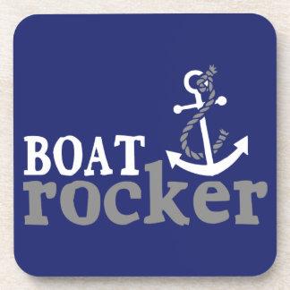 Eje de balancín náutico del barco del humor posavasos de bebidas
