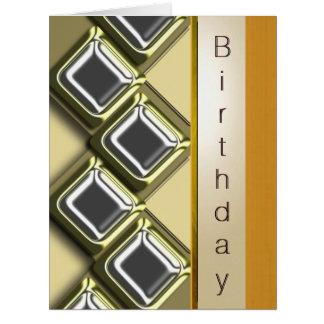 Ejecutivo birthday9 tarjeta de felicitación grande