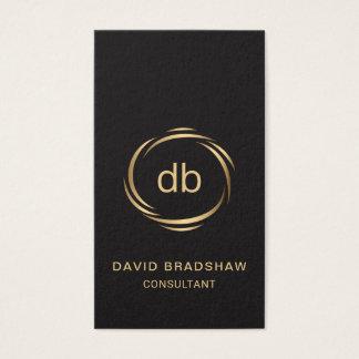 Ejecutivo liso del profesional del monograma tarjeta de negocios