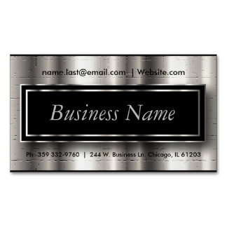 Ejecutivo - negro y acentos metálicos de plata tarjetas de visita magnéticas